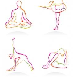 yoga logos vector image vector image