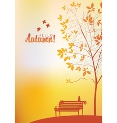 Autumn landscape with trees vector