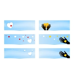 banners templates with hands with hearts vector image