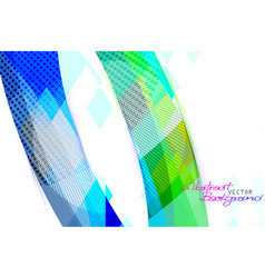 Abstract colors shape on a white vector
