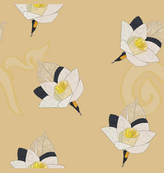 Thai artificial funeral daffodil flower or dok vector