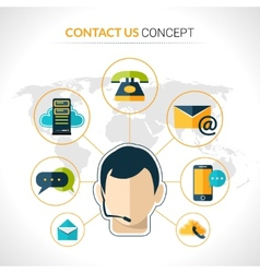 Contact us concept poster vector
