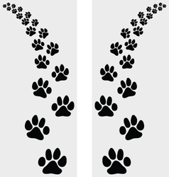 Footstep of cat vector