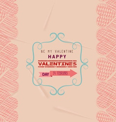 Valentine day greeting card frame retro vector