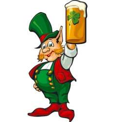 St Patrick's beer vector image