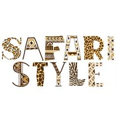 Safari style vector