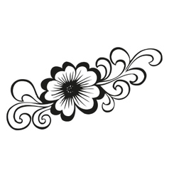 Doodling flower in tattoo style vector