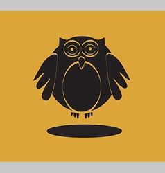 Owl icon in black color vector