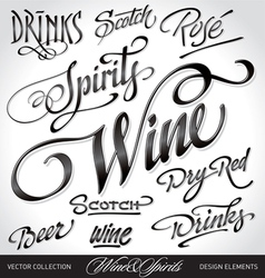 Beverage headlines set vector