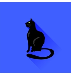 Sitting cat icon vector
