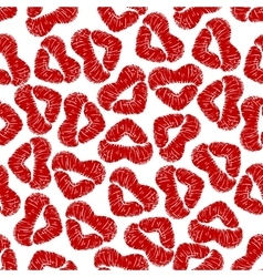 Seamless pattern with woman lip prints vector