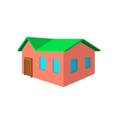 Small cottage cartoon icon vector