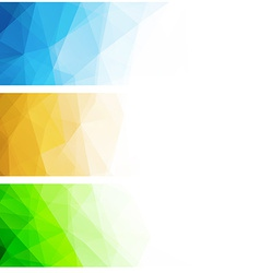 Abstract geometric polygonal background vector image