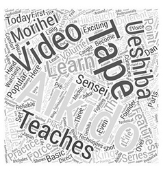 Aikido video word cloud concept vector