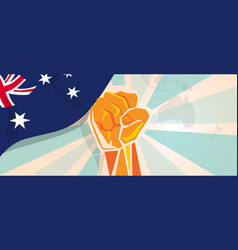 australia fight and protest independence struggle vector image