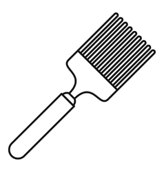 Brush icon outline style vector