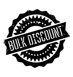 Bulk discount stamp vector