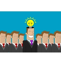 Business man idea vector image vector image