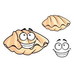 Cartoon clam shell or musse vector image