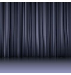 Close view of a red curtain vector image vector image