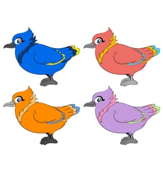 Colour birds vector image vector image