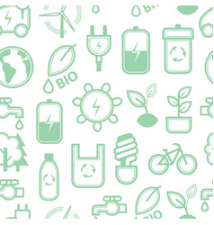 eco concept seamless pattern background vector image