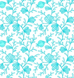 floral pattern blue vector image vector image