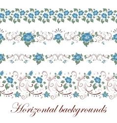 Floral seamless border vector
