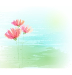 Flower retro grunge background vector
