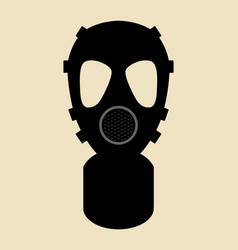 Gas mask pictogram vector