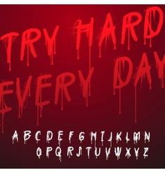 Graffiti splash alphabet vector image vector image