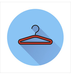 Hanger icon isolated on circle background vector