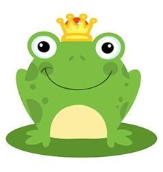 Happy frog prince vector