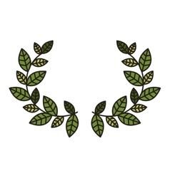 leaves wreath icon vector image vector image
