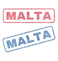 malta textile stamps vector image vector image