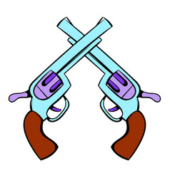 old revolvers icon icon cartoon vector image