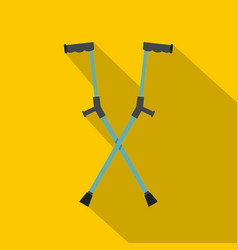 Other crutches icon flat style vector