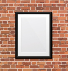 Picture frame on the wall vector