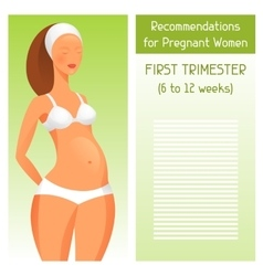 Recommendations for pregnant women in first vector