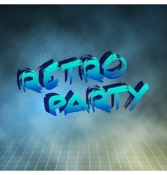 Retro Party 1980 Neon Poster Retro Disco 80s vector image vector image