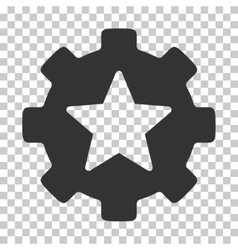 Star Favorites Options Gear Icon vector image