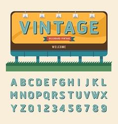 Vintage billboard sign vintage signboard vector