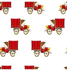 Vintage truck seamless pattern vector image vector image