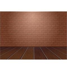 Wooden floor and brick wall vector