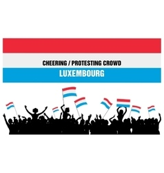 Cheering or protesting crowd luxembourg vector
