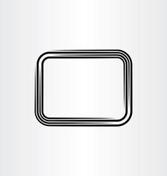 Text box background black line frame vector