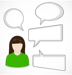 Woman and speech bubbles vector image