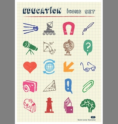 School and education web icons set vector