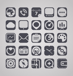 Web graphic interface icons collection vector