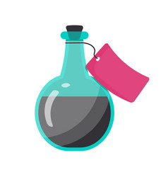 Bottle of poison flat icon vector